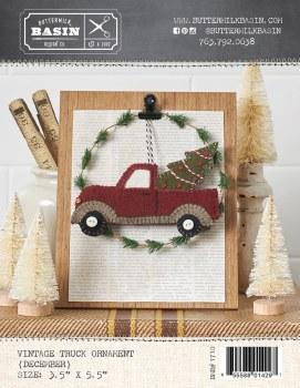 Vintage December Truck Ornamen