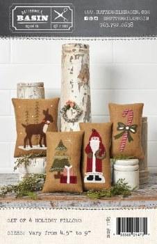 Set of 4 Medium Holiday Pillow