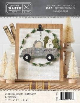 Vintage January Truck Ornament