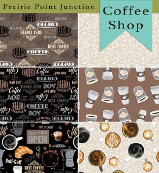 Coffee Shop 6 Fat Quarters