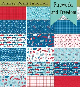 Fireworks and Freedom 18 Fat Quarters