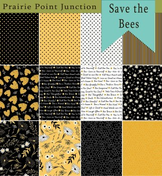 Save the Bees 12 Fat 1/4s