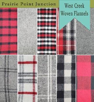 West Creek Flannel 10 Fat 1/4s