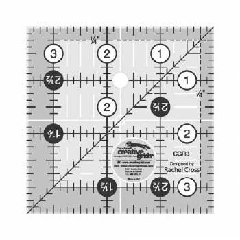 """Ruler, Creative Grid 3 1/2"""" SQ"""