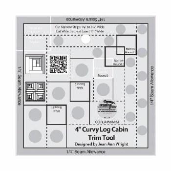 "Ruler Log Cabin Trim 4"" Curvy"