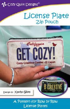License Plate Zipper Pouch