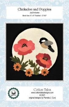 Chickadee and Poppies