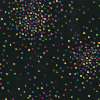 Confetti Squares Multi Black