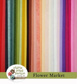 Flower Market Wool Felt Bundle