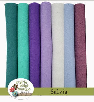 Salvia Wool Blend Felt Bundle