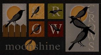 Moonshine Crow Panel Black