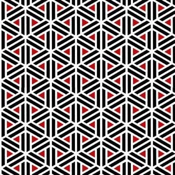 Moroccan Red Geometric