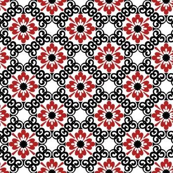 Moroccan Red Flower Trellis