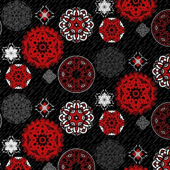 Moroccan Red Multi Medallions