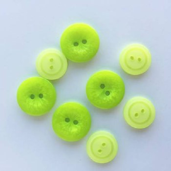 Snack Pack Buttons Green Glow