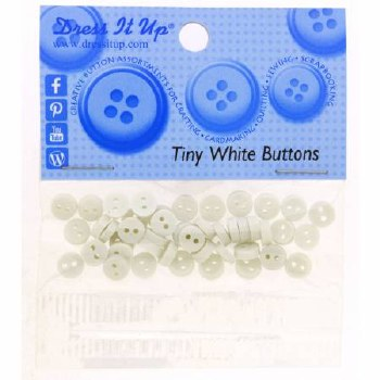 Buttons Tiny Round White