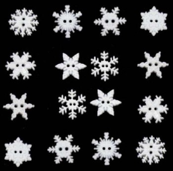 Buttons Snowflakes