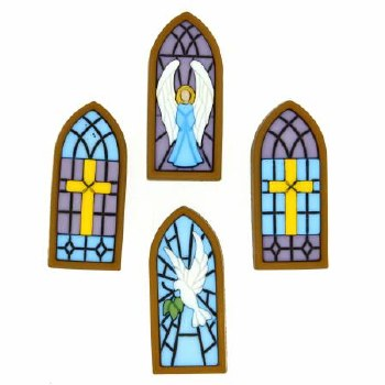 Stained Glass Window Buttons