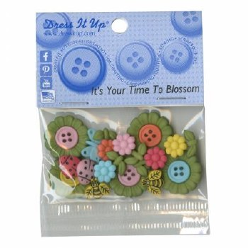 Buttons Time to Blossom