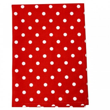 Towel Dot Bright Red
