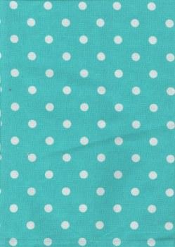 Towel Dot Turquoise White