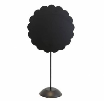 Round Scalloped Stand Black