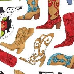 Whoa Girl Boots White Multi