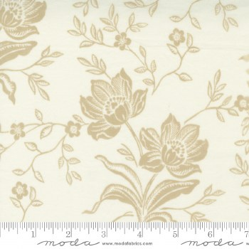 Woodcut Floral 108 Inch Cream