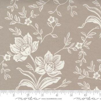 Woodcut Floral 108 Inch Grey