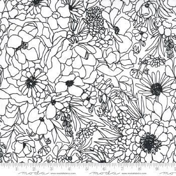 Illustrations Large Floral Wht