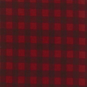Wool Needle V Buffalo Check Ruby