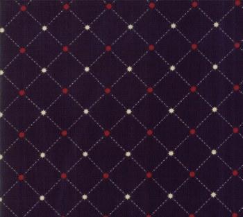 Star Stripe Gath Grid Navy