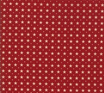 Star Stripe Gath Star Rows Red