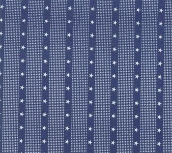 Mackinac Island Stripe Star Blue