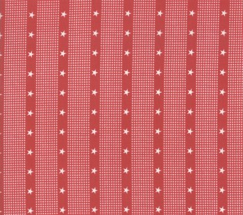 Mackinac Island Stripe Star Red