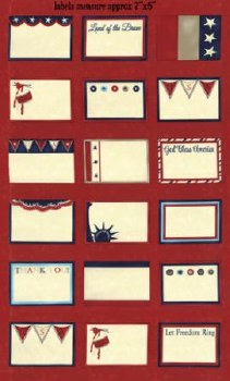 Red White Free Label Panel Red