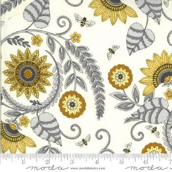 Bee Grateful Lrg Floral Parchm