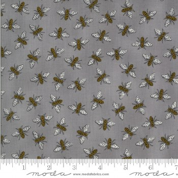Bee Grateful Bees Pebble Grey