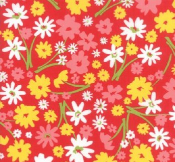 Mamas Cottage Floral Apple Red