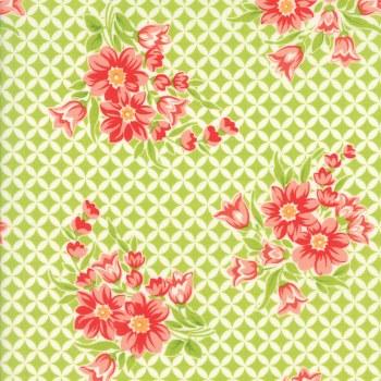 Handmade Circle Floral Green
