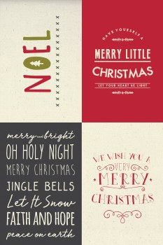 Christmas Card Sampler Panel