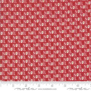 Christmas Card Noel Red