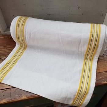 """Toweling 16"""" White Yellow Stri"""