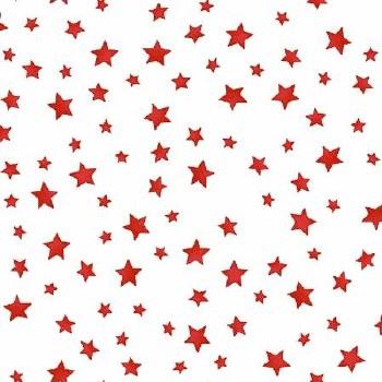 Back Porch Celebration Stars White Red