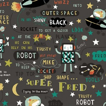 Super Fred Character Print Blk