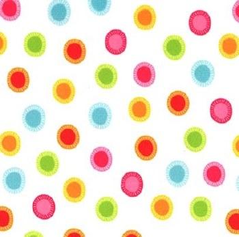 Minky Neon Jungle Dots White