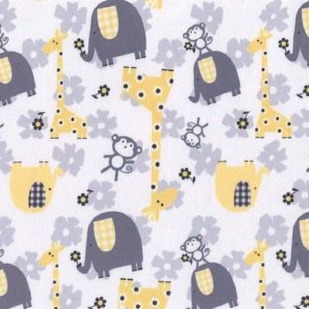 Minky Jungle Dream Yellow