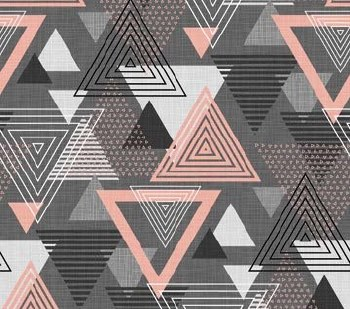 Cosmo Lg Triangle Gray Pink