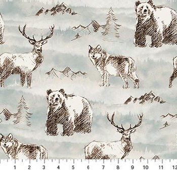 Misty Mountain Flannel Animals