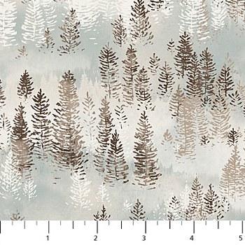 Misty Mountain Flannel Trees B